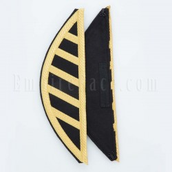 Uniform Wings (pair) Gold Lace over Black