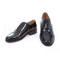 Oxford Shoes - Full Patent Black Leather