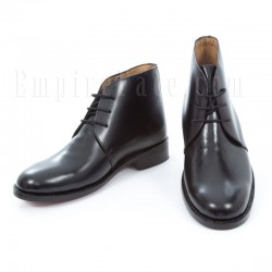 Plain Black Leather George Boots