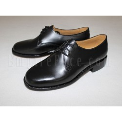 Plain Black Leather Female Parade Shoes