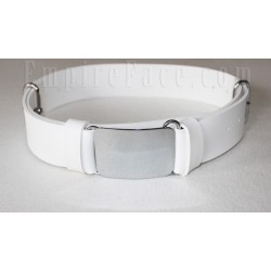 White Gloss PVC Parade Belt with Tongue & Loop