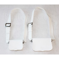White Matt PVC Cross Belt & Pouch Device