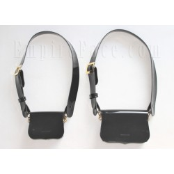 Black Gloss PVC Cross Belt & Pouch Device