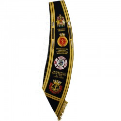 Custom Made Drum Major Pipe Band Black Baldric Sash