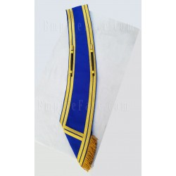 Custom Made Drum Major Pipe Band Plain Blue Baldric Sash