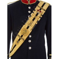Custom Made Black Drum Major Dress Belt (Sash)