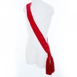 Sergeant Officer Plain Scarlet Royal Blue Wool Sash