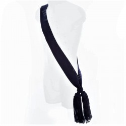Sergeant Officer Plain Navy Blue Wool Sash