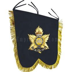 Hand Embroidered Custom Made Black Scottish Banner