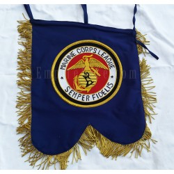 Hand Embroidered Custom Made Marine Corps League Banner