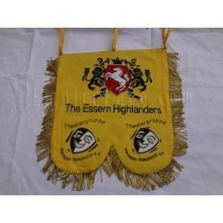 Hand Embroidered Custom Made Highlander Banner