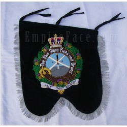 Hand Embroidered Custom Made Pipes & Drums Banner