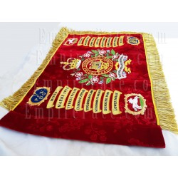 Hand Embroidered 5th Royal Inniskilling Dragoon Guards Banner with Bullion Wire