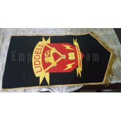 Custom Made Black Hand Embroidered School Banner