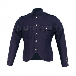 Canadian Police Style Cutaway Tunic in Navy Blue Wool