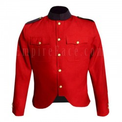 Canadian Police Style Cutaway Tunic in Red Wool