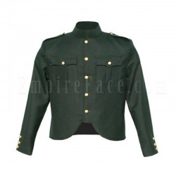 Canadian Forces Style Cutaway Tunic in Rifle Green Wool