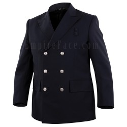 Top Authority Midnight Navy Polyester Double-Breasted BlouseCoat
