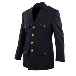 Top Authority Navy Blue Polyester/Serge Single-Breasted Blousecoat