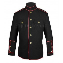 Black High Collar Fire Dept Honor Guard Dress Jacket