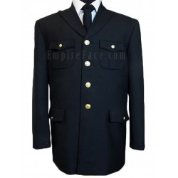 Black Single Breasted Honor Guard Jacket