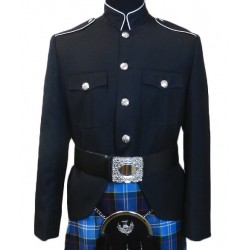 Black Class A Honor Guard Kilt Uniform Jacket