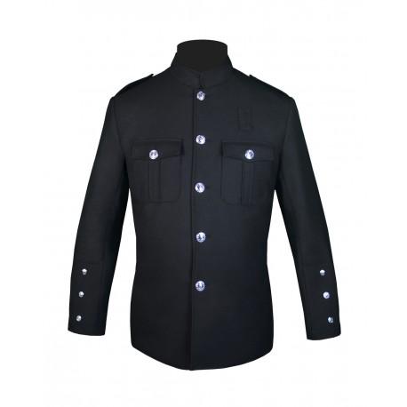 High Collar Police Honor Guard Black Uniform Jacket
