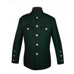 Dark Green High Collar Police Honor Guard Uniform Jacket
