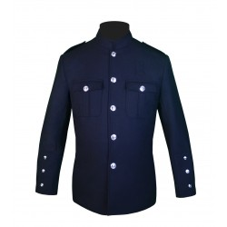 Dark Navy High Collar Police Honor Guard Uniform Jacket