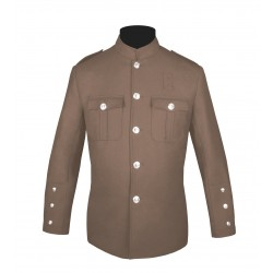 Tan High Collar Police Honor Guard Uniform Jacket