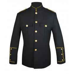 Black High Collar Police Honor Guard Uniform Jacket