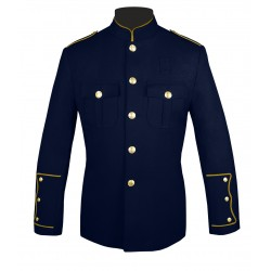 Navy Blue High Collar Police Honor Guard Uniform Jacket