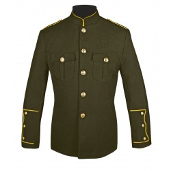 Olive High Collar Police Honor Guard Uniform Jacket