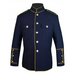 Navy High Collar Police Honor Guard Uniform Jacket