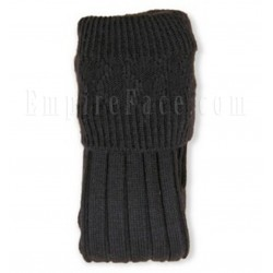 Pipe Band Black Full Socks