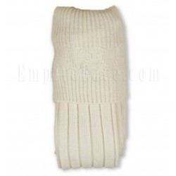 Ecru White Band Full Socks