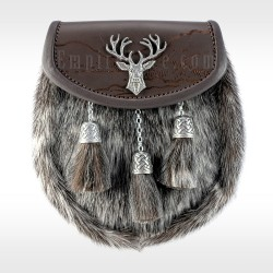 Sealskin & Brown Leather Sporran