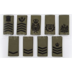 Royal Marine - Black on Green Embroidered Rank Slides