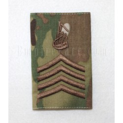 Pipe Major Rank Slide, Bronze Embroidery on Multi-Cam Material