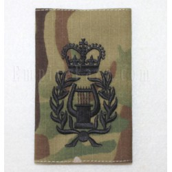 Multicam Rank Slide, Band Master, Black Embroidery