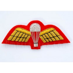 Royal Marines, Gold on Red, Parachute Wings 'Mess Dress' Badge