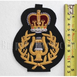 Royal Marine Bandmasters' Gold on Black 'No1 Ceremonial' Uniform Badge
