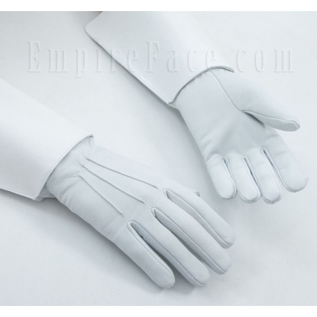 United States Navy Band, Drum Majors White Leather Gauntlet Gloves